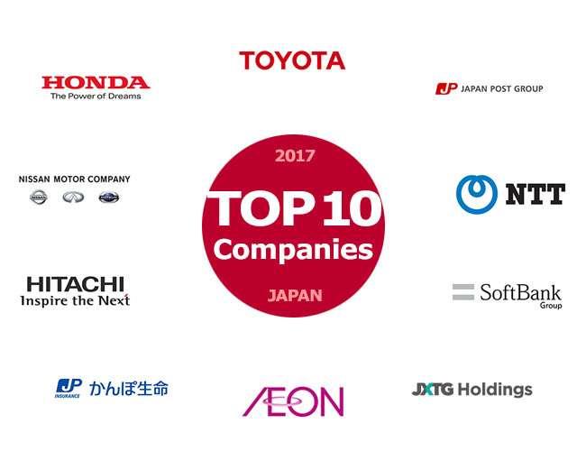 10 شرکت برتر ژاپن