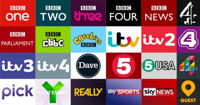 شبکه های تلویزیونی انگلیس